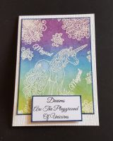 Dreams are the Playground of Unicorns C6 card