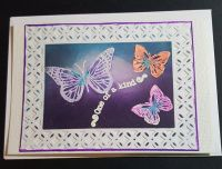 One of a kind - Trio of butterflies C6 white card