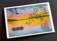 Congratulations - Oriental themed landscape C6 white card