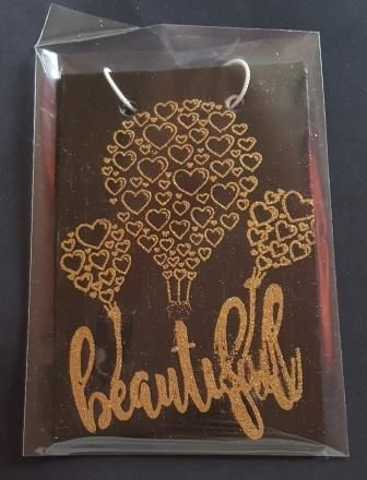 Beautiful - heart balloons wall hanging