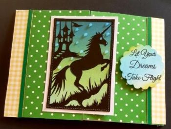 Let your dreams take flight Unicorn gatefold C6 card
