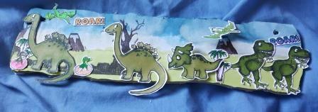 Dinosaurs Roar - MDF wall hanging