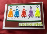Celebrate! Paperclip people C6 Adorable Scorable card