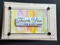 Thank you for everything on coloured background C6 card