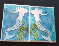 Mermaids under the sea C6 gatefold card - no message