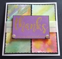 Thanks... You're One in a Million on panelled background 6in square card