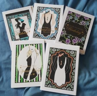 Stylish ladies - monochromatic set of 5 7x5in cards