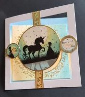 For a Little Princess have a magical day fairy and unicorn card