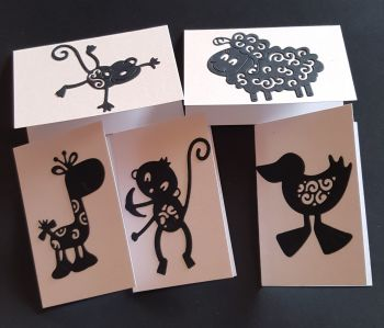 Gift Tags - set of 6 animal themed tags