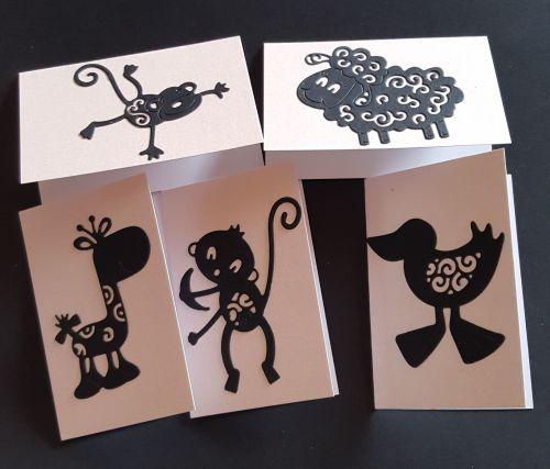 Gift Tags - set of 6 animal themed tags