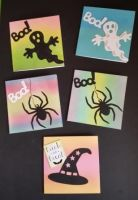 Hallowe'en invitations or mini cards x5