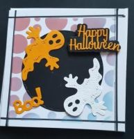 Happy Halloween square card with envelope
