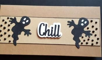 Chill Ghosts and dots..  DL Kraft card
