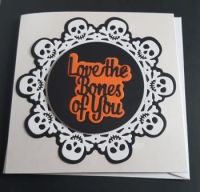 Love the Bones of You...square white card