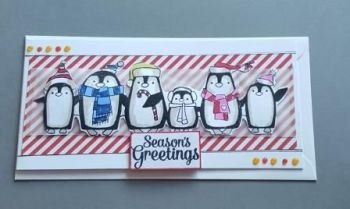 Season's Greetings - Cute Penguins DL card