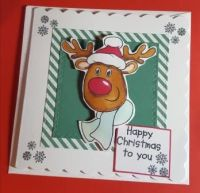 Happy Christmas to you Rudolph..square card