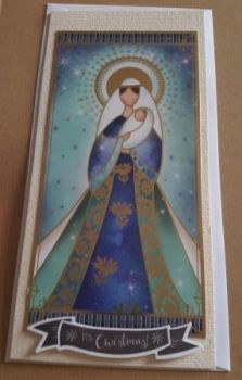 It's Christmas! Madonna & Child stylised dl card