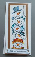 With Love at Christmas Snowmen DL card
