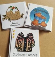 Christmas Gift tags or mini cards x3 in pack -