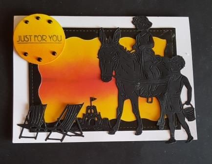 GC 2019 - Just for you - Children with donkey in sihouette on sunset bg 7x5