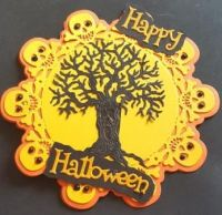 Spooky Tree - Happy Halloween Shaped card