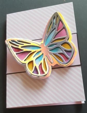 Calendars 2020 - Butterfly front small pink and white card - HD, SBM, etc r