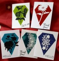 Set of 5 mixed sentiment C6 cards