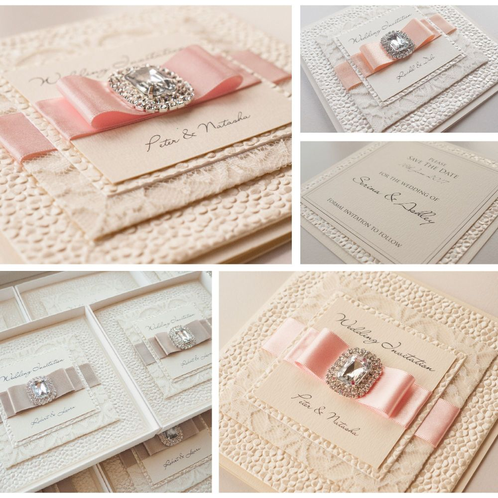 Cleo Lace Sample Invitation