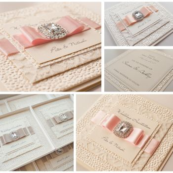 Cleo Lace Sample Wedding Invitation