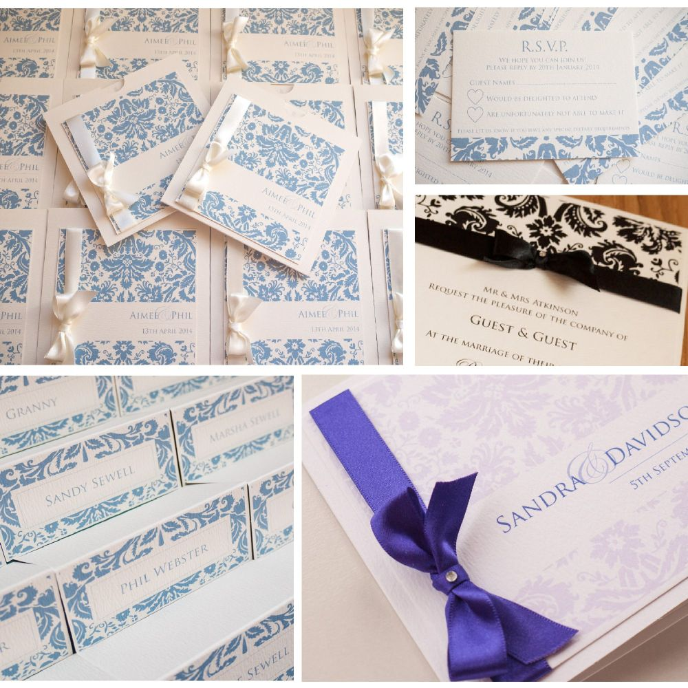 Damask Sample Invitation