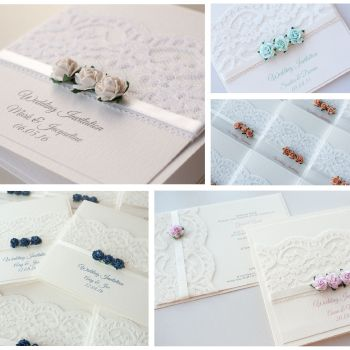 Flora Sample Wedding Invitation