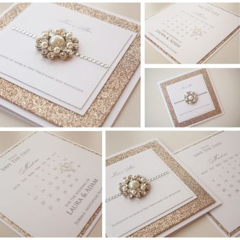 Glimmer Sample Wedding Invitation