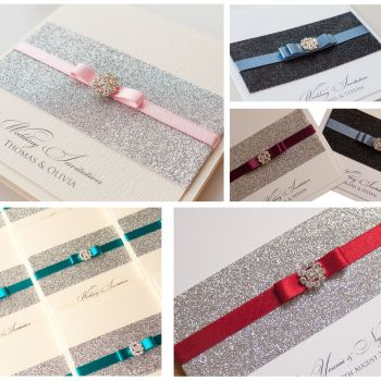 Glitzy Sample Wedding Invitation