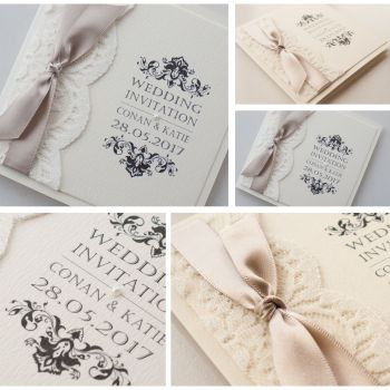 Opulence Lace Sample Wedding Invitation