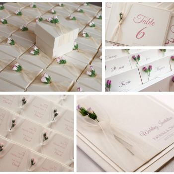 Rosebud Sample Wedding Invitation