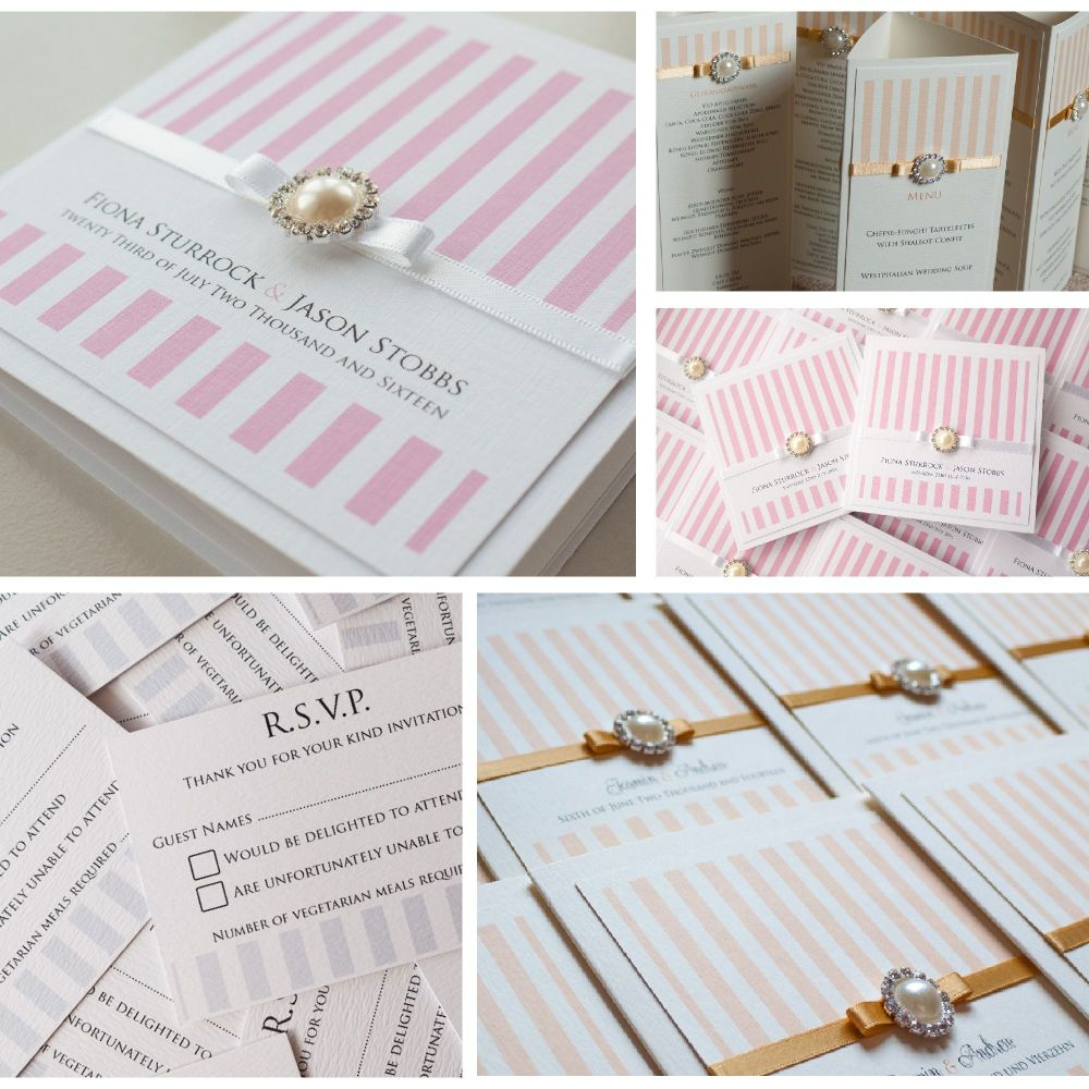 Stripes Sample Invitation