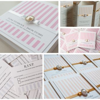 Stripes Sample Wedding Invitation