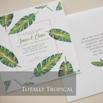 Totally Tropical Invitation Pack (£1.75 per Invitation)