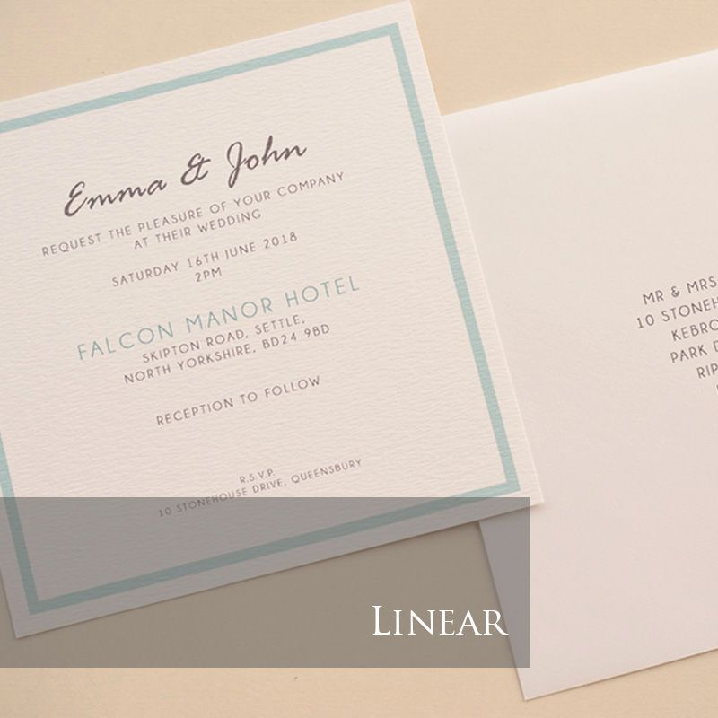 Linear Invitation Pack (£1.75 per Invitation)