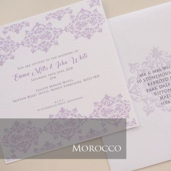 Morocco Invitation Pack (£1.75 per Invitation)