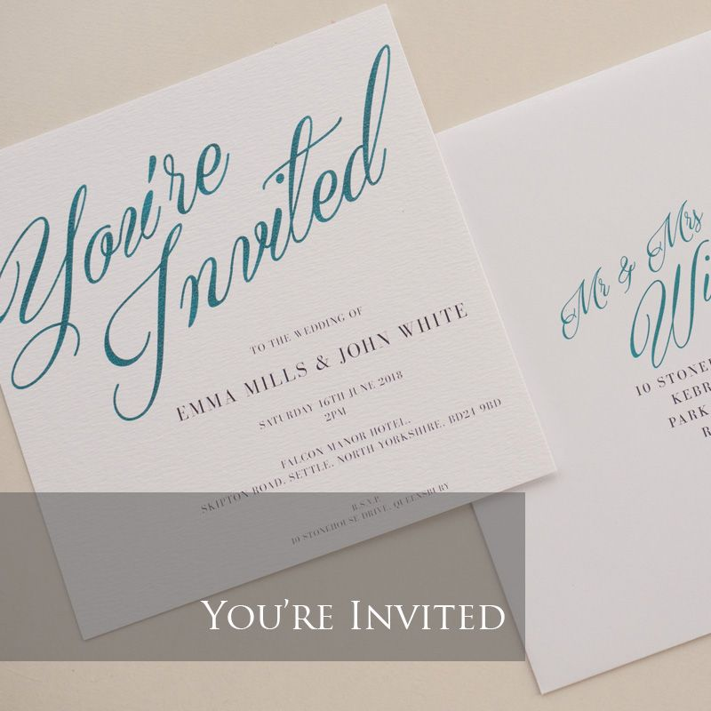 You're Invited Invitation Pack (£1.75 per Invitation)