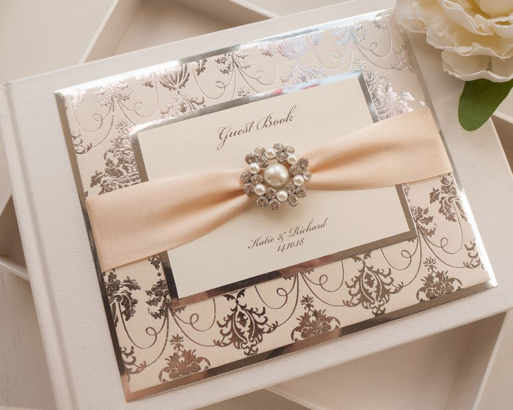 Luxury Personalised Wedding Guest Book - Regal Mirror