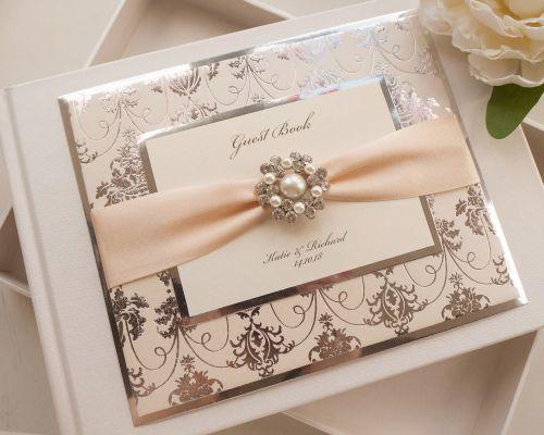 Luxury Personalised Wedding Guest Book - Regal Mirror