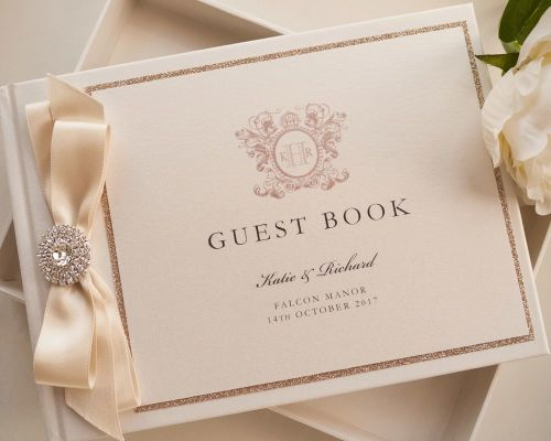 Luxury Personalised Wedding Guest Book - Falcon