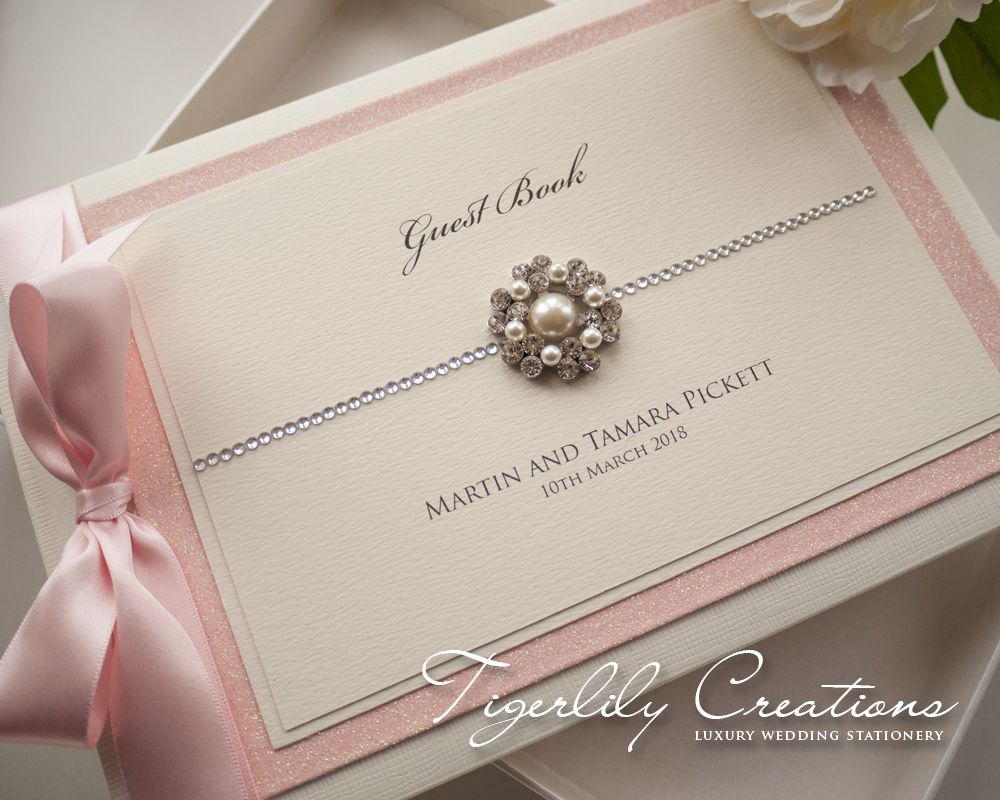 Luxury Personalised Wedding Guest Book - Glimmer