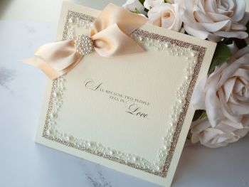 Love Story Sample Wedding Invitation