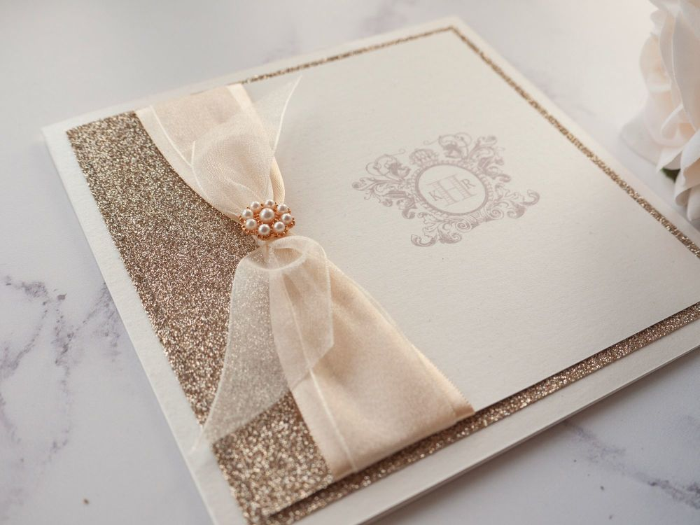 Monogram Sample Wedding Invitation