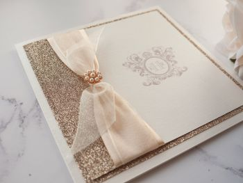 Monogram Sample Wedding Invitation