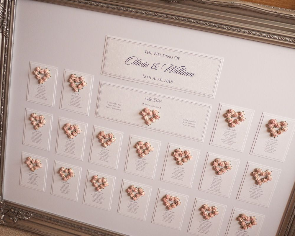 Framed Wedding Table Plan