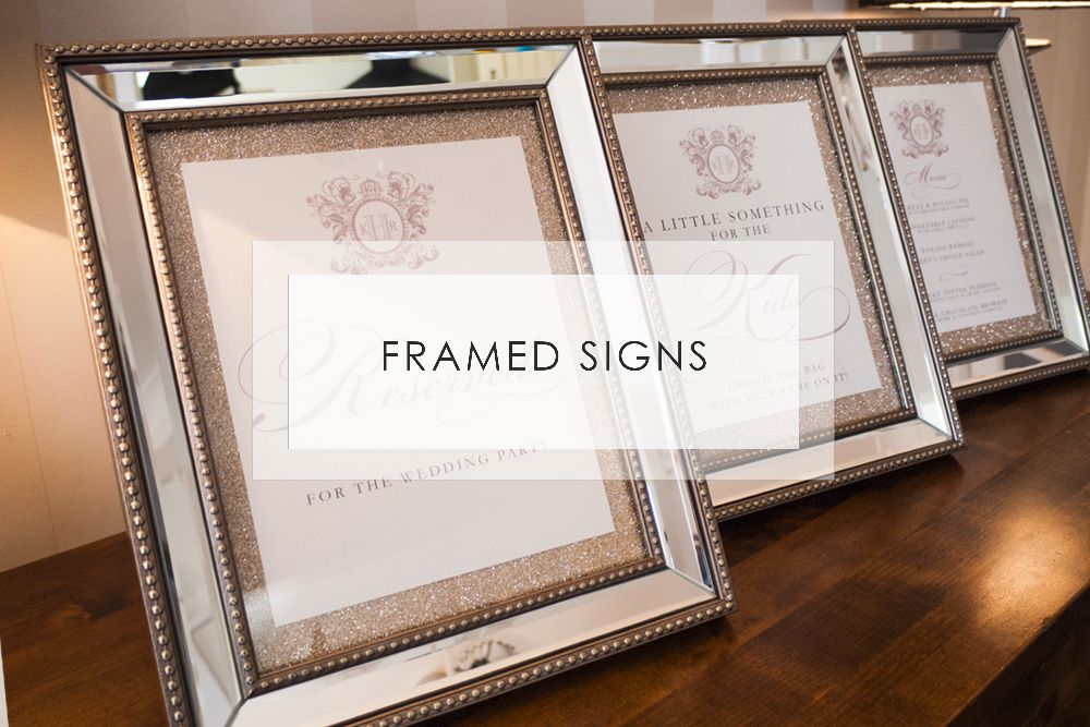 Wedding Day Signs & Frames